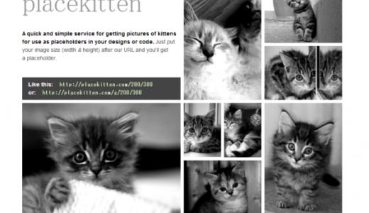猫派のためのダミー画像ジェネレーター