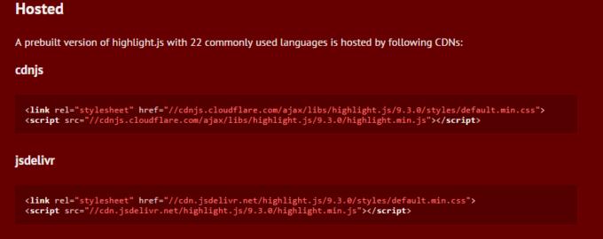 Highlight.js CDN