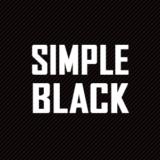「Simplicity2」のシンプルな黒系スキン「SIMPLE BLACK」