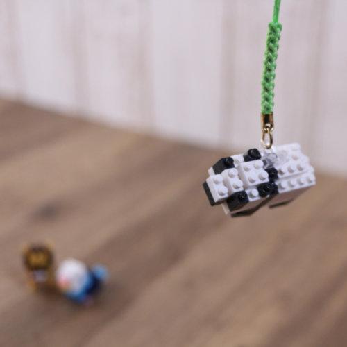 ナノブロック リング付きパーツをパンダに